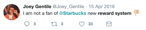 Starbucks twitter comment